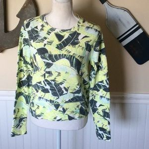Gap neon green long sleeve shirt